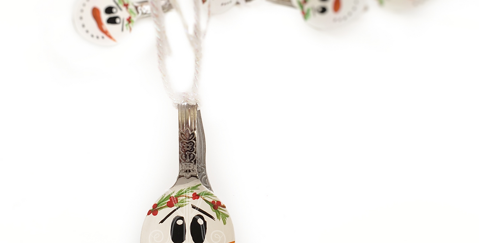Handpainted Snowman Spoon Ornament