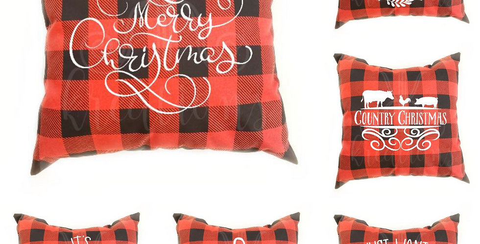 Buffalo Plaid Christmas Pillow