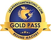 Professional Resume Writer, Gold Pass Resume Mastery