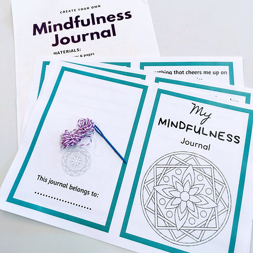 My Mindfulness Journal printable e-book for kids