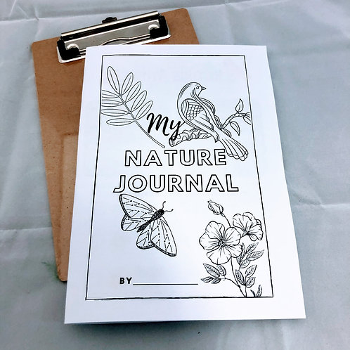 My Nature Journal printable e-book for kids