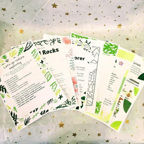Nature Explorers printable e-book for kids