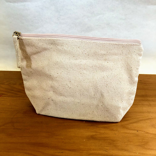 Decorate-your-own Pouch with zip