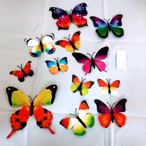 Set of 12 Butterfly Decorations