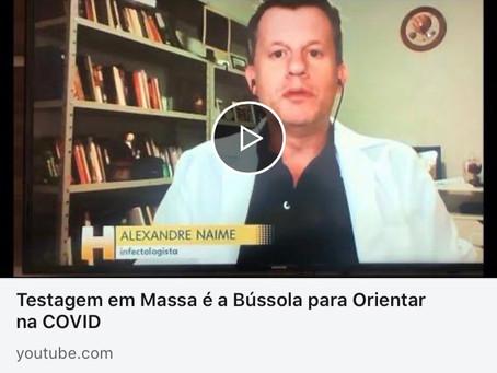 Testagem em Massa é a Bússola para Orientar na COVID