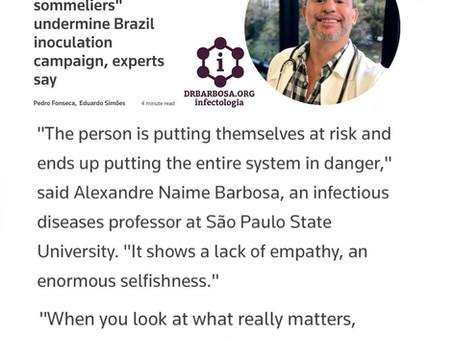 Sommeliers de Vacina comprometem o programa de vacinação do Brasil, diz especialista