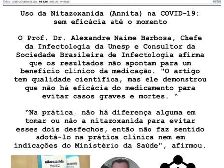Uso da Nitazoxanida (Annita) na COVID-19: sem eficácia até o momento, aponta Dr. Alexandre Barbosa