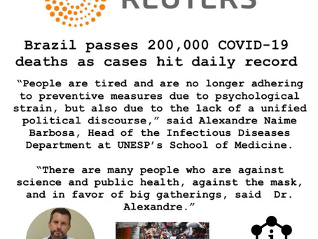 Brazil passes 200,000 COVID-19 deaths as cases hit daily record
