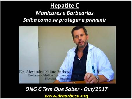 Hepatite C - Manicures e Barbearias - Saiba quais os cuidados para se prevenir dessa doença