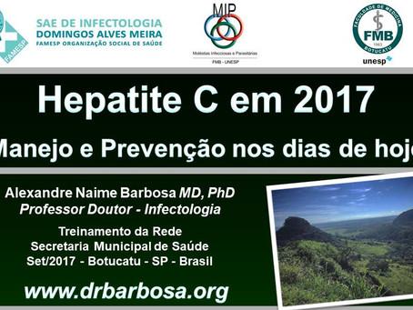 Hepatite C em 2017 - Manejo e Prevenção nos dias de hoje