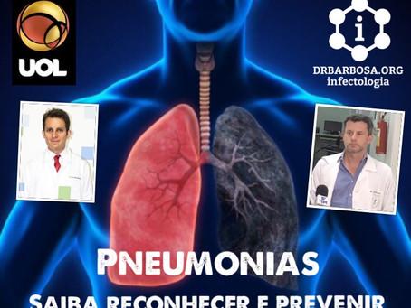 Pneumonia tem como sintomas febre, tosse e dificuldade para respirar