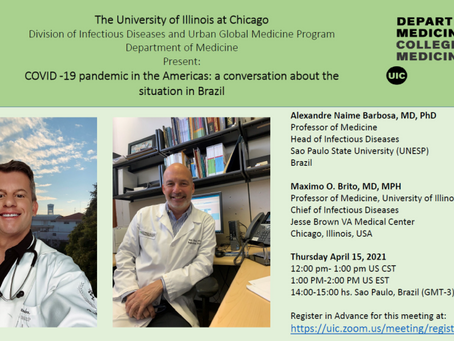COVID-19 Pandemic in the Americas: a conversation between UNESP and University of Illinois - Chicago