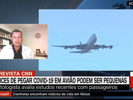 Como reduzir a transmissão e se prevenir da COVID-19 em aviões e voos comerciais?