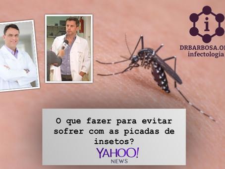 O que fazer para evitar sofrer com as picadas de insetos?