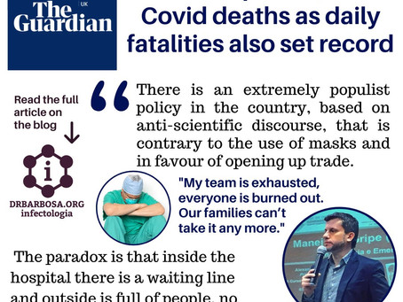 Brazil tops 251,000 Covid deaths as daily fatalities also set record - The Guardian