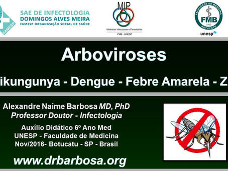 Arboviroses  Chikungunya - Dengue - Febre Amarela - Zika 2016