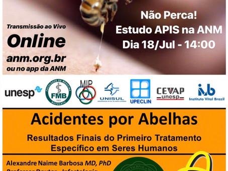 Estudo APIS na Academia Nacional de Medicina - Simpósio Animais que Picam, Lambem, Arranham e Mordem