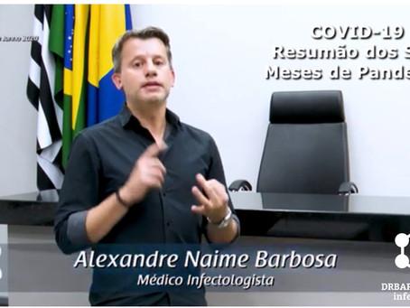 COVID-19: Resumão dos Seis Meses de Pandemia no Brasil, São Paulo e Botucatu