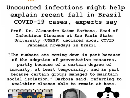 Uncounted infections might help explain recent fall in Brazil COVID-19 cases, experts say