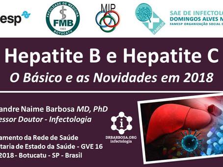 Hepatite B e Hepatite C - O Básico e as Novidades em 2018