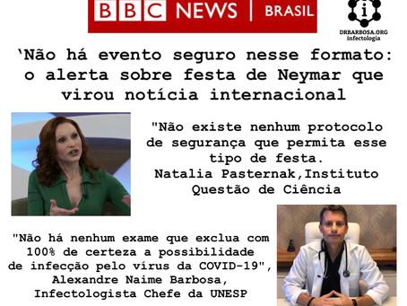 Não há evento seguro nesse formato: o alerta sobre festa de Neymar que virou notícia internacional