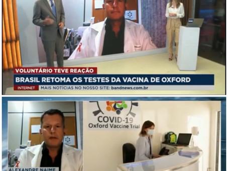 Testes da vacina de Oxford contra Covid-19 são retomados no Brasil e no Mundo