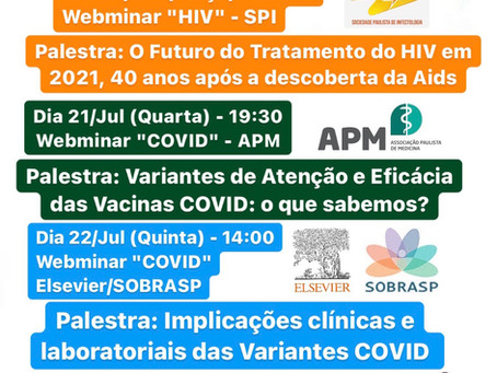 Palestras Científicas da 3ª Semana de Jul/2021 - Prof. Dr. Alexandre Naime Barbosa - Infectologia