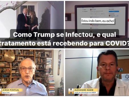 Como Trump se Infectou, e qual tratamento está recebendo para COVID?