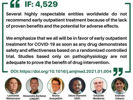Médicos brasileiros especialistas em COVID acaba de publicar na The American Journal of Medicine