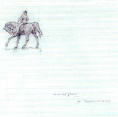 Study of an Equestrian Statue in Copenhagen