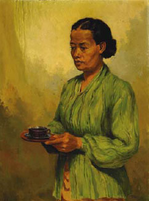 Portrait of a Woman with a Cup of Tea