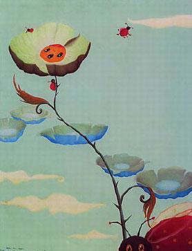 Diantara Bunga Menguning dan Si Merah