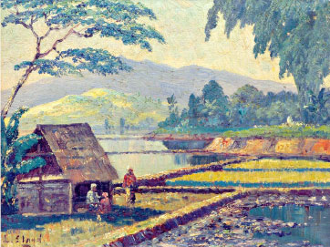 A Hut in the Ricefield