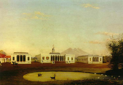 A View of the Palace and Pond at Buitenz