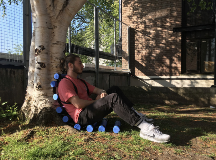 Roller Backpack - Against tree