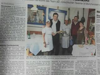 Unsere griechische Taverne in der Basler Zeitung vom 21. Januar 2018