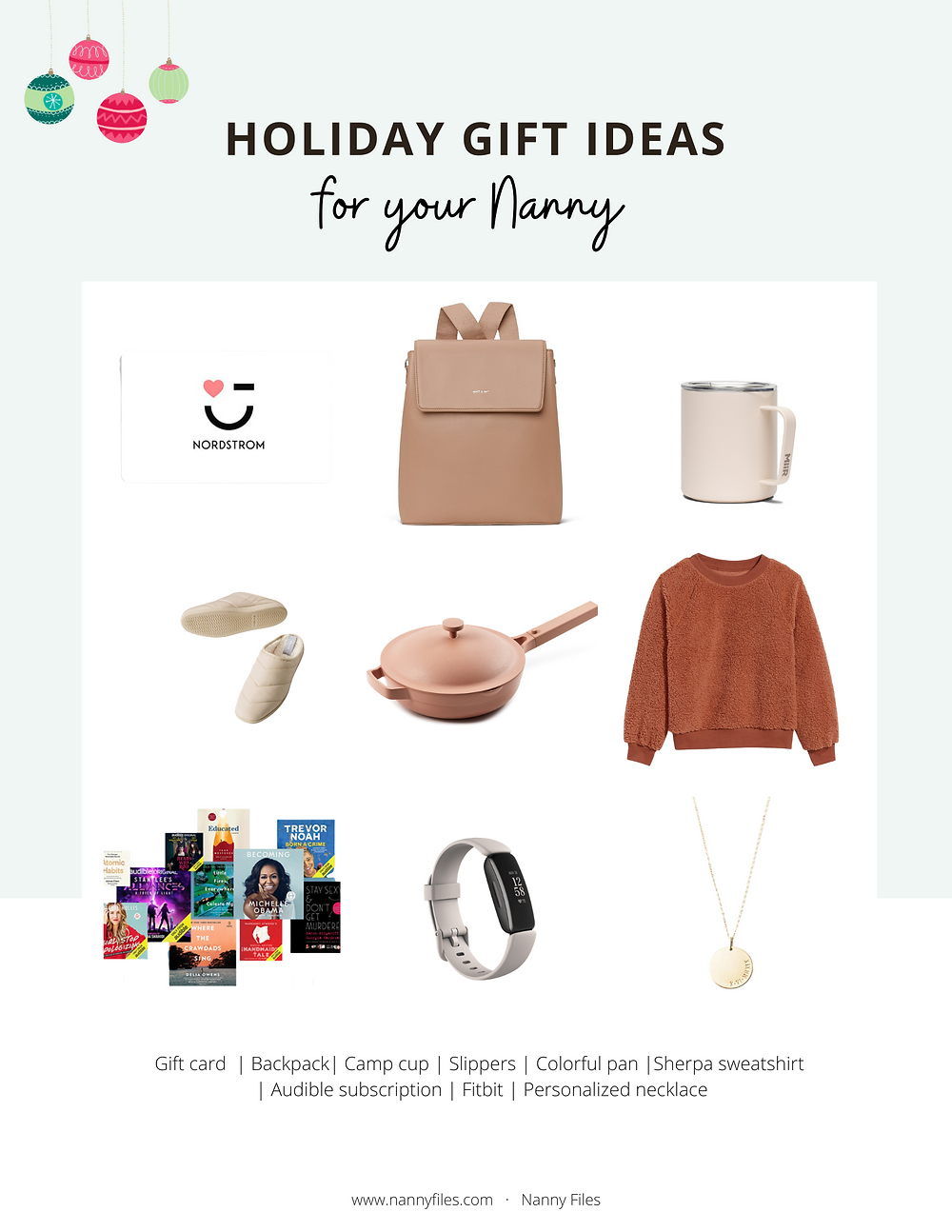 holiday gift ideas for your nanny