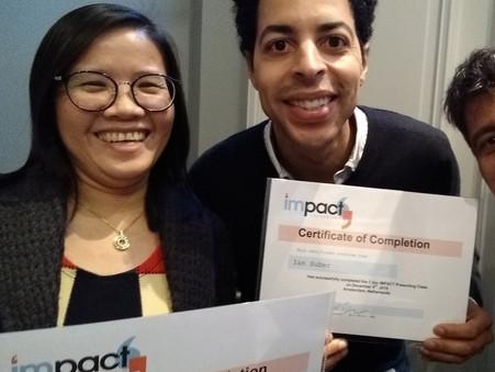 Amsterdam pop-up Public Speaking class, Dec 2019, class review