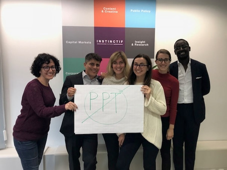 Presentation skills course, Instinctif, Brussels, Belgium, November 2018