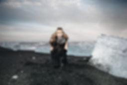 Belinda Wilson Self Portrait Photograph Woman Landscape Ice Beach Iceland