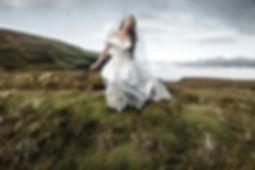 Belinda Wilson Self Portrait Photograph Woman Landscape Bride Wedding Costal Grass
