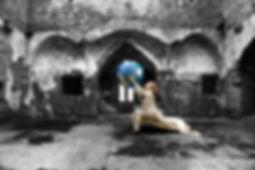 Belinda Wilson Self Portrait Photograph Woman Globe Castle Story Mythical