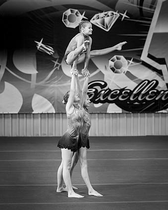 Acrobatic Gymnasts in action