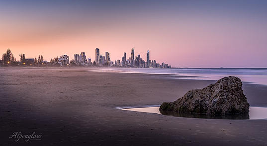 Surfers Paradise at Sunset by Alpenglow Photography