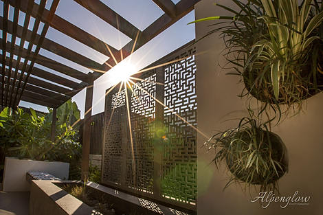 Late afternoon outdoor living. Real Estate Photo by Alpenglow Photography