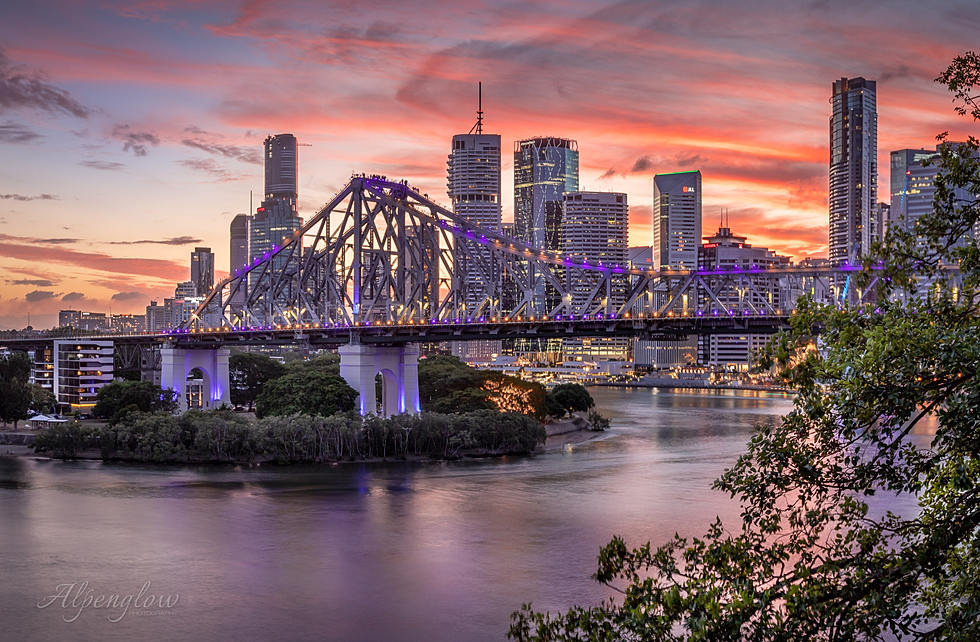 Brisbane City Scape by Alpenglow Photography