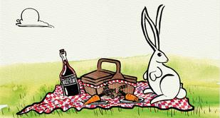 SOME BUNNY LOVES YOU-children's book illustration