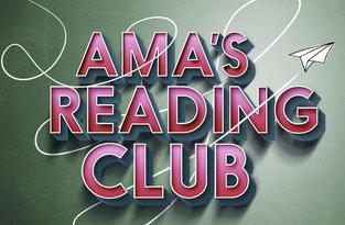 Ama's Reading Club text logo
