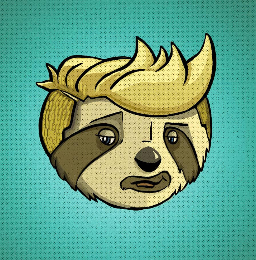 """""""Cool Sloth"""" Icon for Young Actors Project"""
