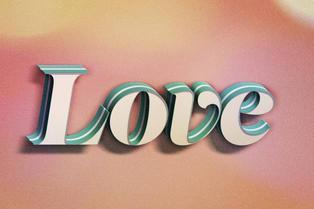 Love text design